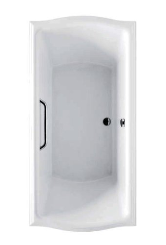 Toto ABY781N#01YBN Aby781N Cotton White with Brushed Nickel Trim Clayton Soaker, 60