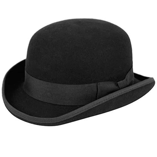 Epoch hats Men's Wool Felt Derby Hat (L, Black) -