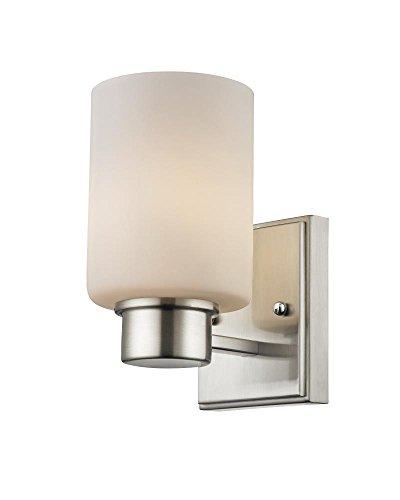 Dolan Designs 3881-09 Chloe 1 Light Bathroom Fixture, Satin Nickel ()