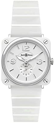 Bell & Ross Brs Quartz Mens Or Ladies Watch Brs-White-Ceramic-Bracelet