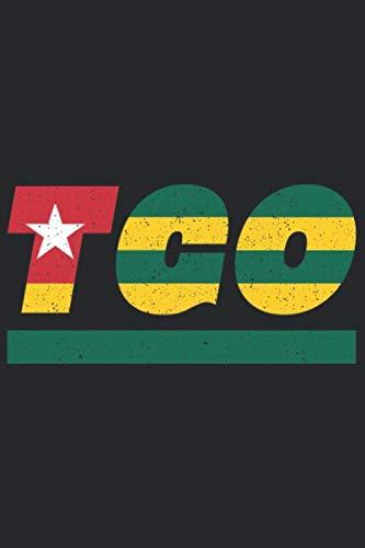 TGO: Togo Notizbuch mit punkteraster 120 Seiten in weiß. Notizheft mit der Flagge Togos (German Edition) (Farbe Weiß)