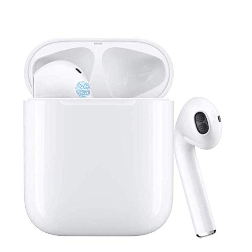 Wireless Earbuds Bluetooth 5.0 Headsets 3D Stereo Headphones with Fast Charging Case,Auto Pairing in-Ear Ear Buds IPX5 Waterproof Mini Sports Earphones Compatible for iPhone Samsung Apple Airpods