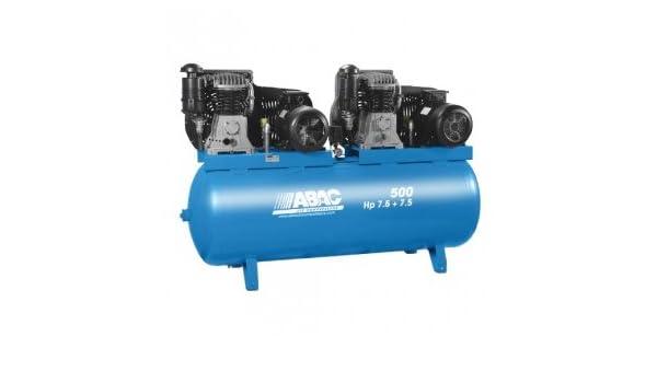 Compresor de aire ABAC bi-ãtagã 500 litros 11 bar, motor Tandem marca lente 2 x 7, 5 CV: Amazon.es: Bricolaje y herramientas