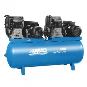 Compresor de aire ABAC bi-ãtagã 500 litros 11 bar, motor Tandem ...