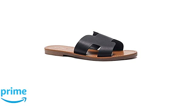 Shoe Land SL Greece Women's Open Toe Flat Sandals Slides