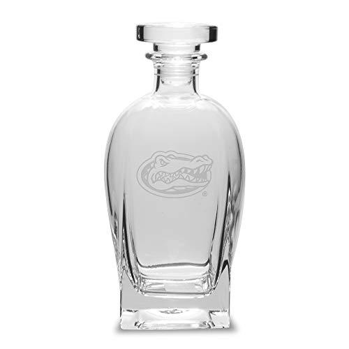 NCAA Florida Gators Luigi Bormioli Titanium White Wine Glass - Set of 2, Clear, 12 oz (Gator Beer Glasses)