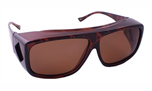Overalls Sunglasses with Polarized Tortoise and Brown ()