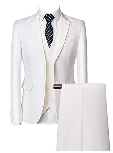 Two Buttons 3 Pieces Mens Suits Single Breasted Wedding Suits Groom Tuxedos