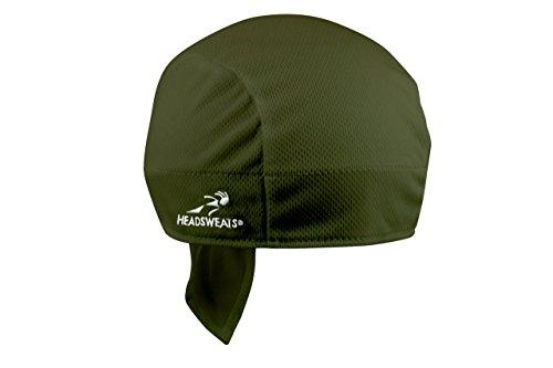 Headsweats Shorty Beanie, Olive Coolmax Headband