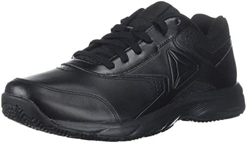 Reebok Men's Work N Cushion 3.0 4E Walking Shoe, Black, 8 US