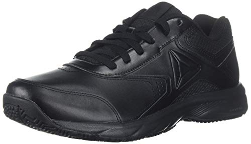 Reebok Men's Work N Cushion 3.0 4E Walking Shoe, Black, 8 US