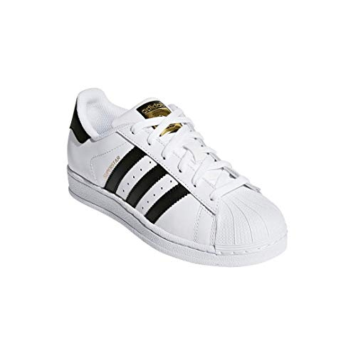 adidas Originals Kids' Superstar Foundation EL C Sneaker, White/Black/White, 11 M US Little Kid