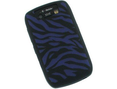 Black and Purple Zebra Gel Skin Cover Case for Blackberry Javelin 8900 [Mybat Brand] - Cover Blackberry Javelin