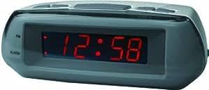 Acctim metizo reloj despertador con batería conectado a la electricidad backupsnooze función rojo pantalla led dimensiones 140 x 50 x 140 x 84 mm 84 millimeter Reloj despertador - colgar en