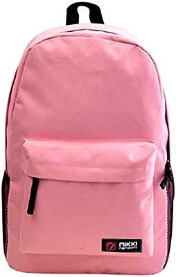 Outsta Mochila de hombro doble, para mujeres, hombres y estudiantes, bolsa de asa, mochila Oxford, bolsa de viaje, con bolsillos laterales de botella, ...
