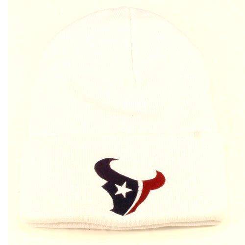 にやにやママ構想するHouston TexansホワイトCuffニット帽 – NFLカフス冬ニットToqueキャップ