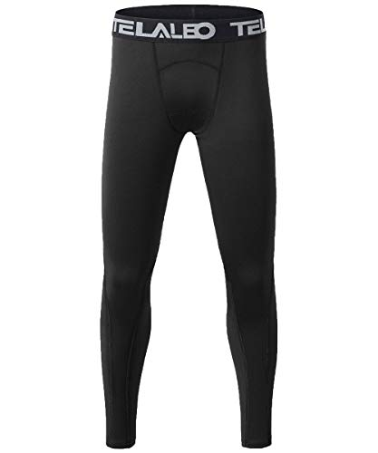 TELALEO Boys' Youth Compression Base Layer Pants Tight Running Leggings Trousers 1PCS M