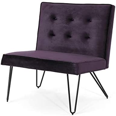 Christopher Knight Home DuSoleil Modern Armless Velvet Chair