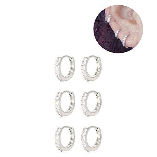 Sterling Silver Huggie Earring Mini Hoop Black Hoop Earring Unisex Earring Earring Second Hole Small Hoop Earring Tiny Hoop Earring