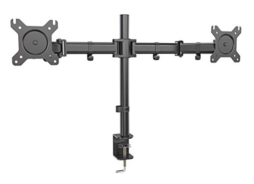 Dual Screen Desk Mount & Computer Monitor Stand with Two Adj