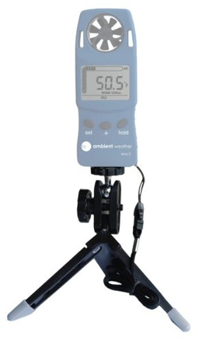 Ambient Weather WM-TRIPOD Universal Portable Mounting Tripod for Handheld Wind Meters