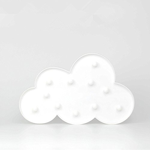 Cloud Table LED Night Lamp for Party Birthday Wedding Atmosphere,Battery Operated Decorative Marquee Signs Light for Bedroom and Wall (Party Led Sign)