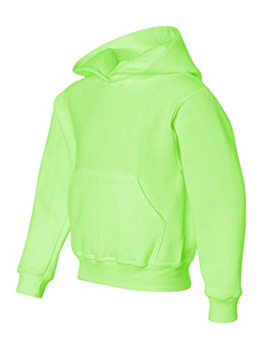 Jerzees boys NuBlend Hooded Pullover Sweatshirt(996Y)-NEON GREEN-S