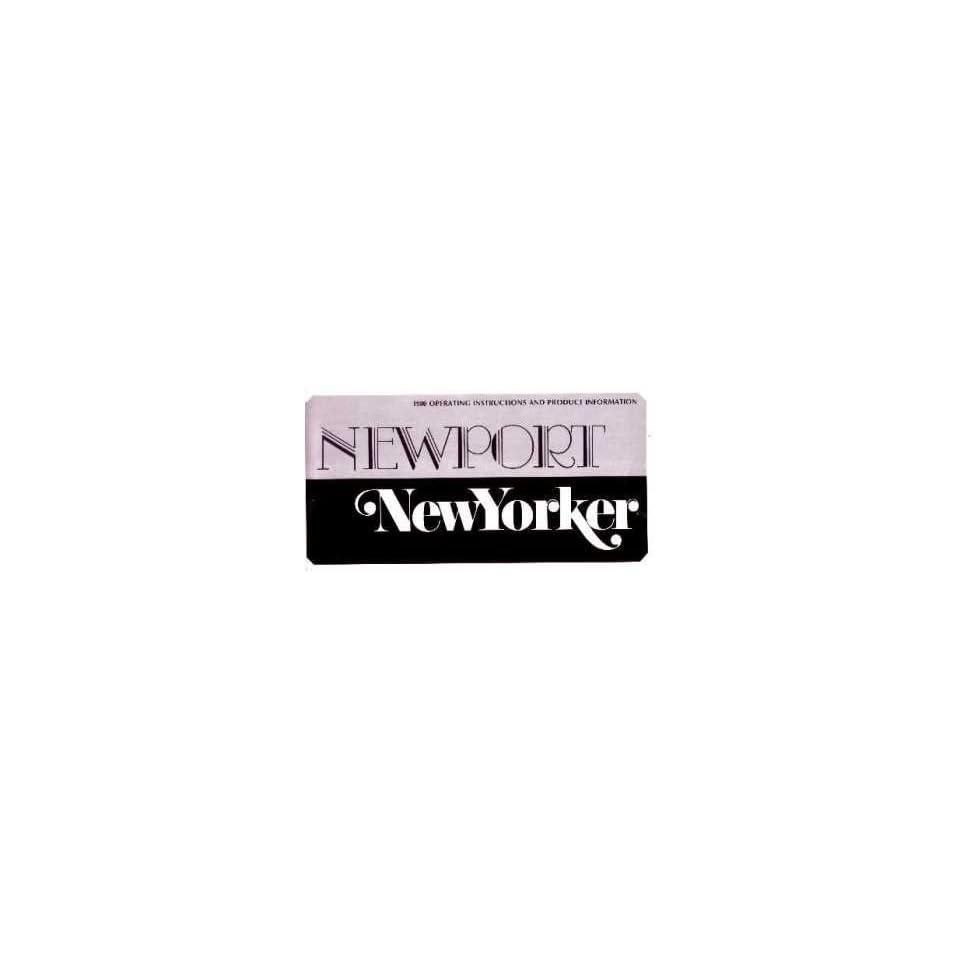 1980 Chrysler New Yorker Newport Owners Manual User Guide Operator Book Fuses