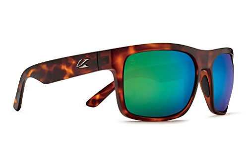 Kaenon Adult Burnet Xl Sunglasses, Matte Tortoise / Coastal Green, One Size