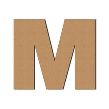 (M) Pappbuchstaben XXL Dekoration, Wellpappe, Buchstaben aus Pappe, Deko,  Geschenk, 50 x 58.2 cm, DRUCKUNDSO