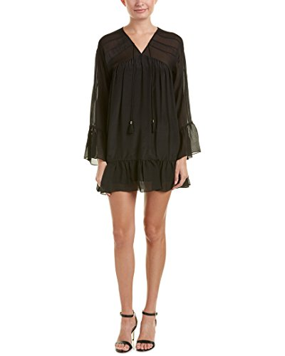Boho-Chic Vacation & Fall Looks - Standard & Plus Size Styless - Rachel Zoe Women's Anita Dress Black Dress