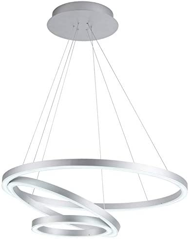 Royal Pearl Modern Chandelier Contemporary LED Pendant Lighting Irrgular Rings Adjustalbe Not Dimmable Pendant Light