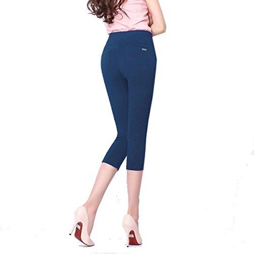 snfgoij Leggings Sección Delgada Nueve Pantalones Pantalones De Desgaste Grasa Pantalones Grandes Pantalones Pies Autoconfianza Adecuado,F-XXXL