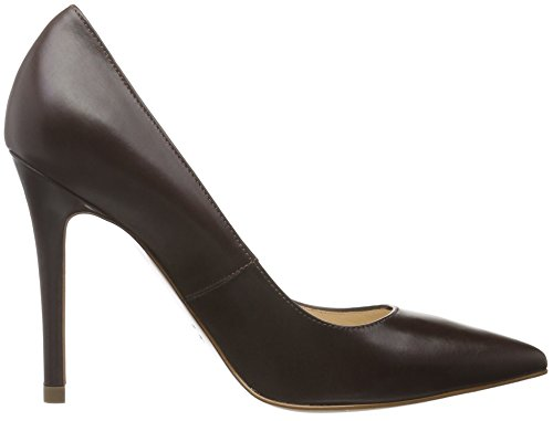 Alina dunkelbraun Tacco Chiusa Shoes Scarpe Evita Punta 22 Col Donna Marrone 1AxqSW5wR