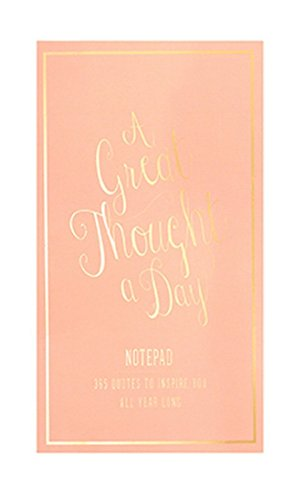 Eccolo World Traveler Thought A Day Notepad, Coral (T609B) - Serendipity Coral