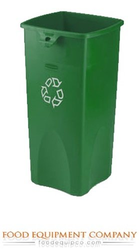 Rubbermaid FG356907GRN Garbage Can Untouchable Recycling Container 23 gallon sq