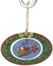 (Jim Shore Santa In Rotating Sleigh Ornament)