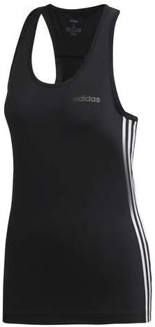 adidas Design 2 Move T-Shirt à Manches Courtes pour Femme Motif 3 Bandes Noir