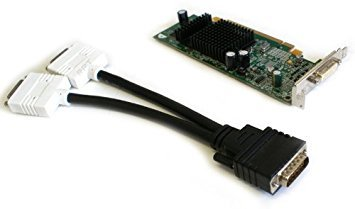 - Genuine Dell / ATI Radeon X300 128MB PCI-E Video Card with DMS-59 to Dual DVI Splitter Cable For Systems with Low Profile PCI-Express x16 Slot Part Numbers: P4007, 109-A25900-00, 102A2590401, 102A2590500, 102A2590200
