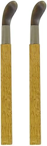 manonmoon /Ágata bru/ñidor de pulgar u/ñas tipo oro herramienta con mango de madera