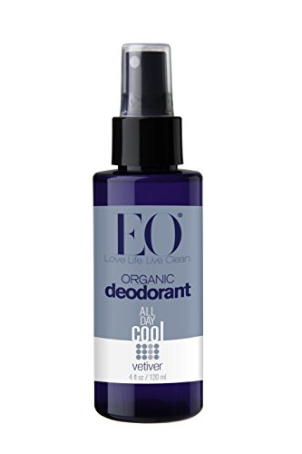 EO Products Deodorant Spray, Vetiver (pack of 2) - Intense Deodorant Spray
