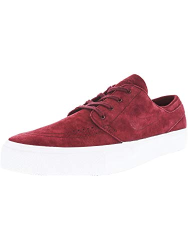 - Nike Men's Zoom Stefan Janoski Prem Ht Team Red/White Low Top Suede Skateboarding Shoe - 11M