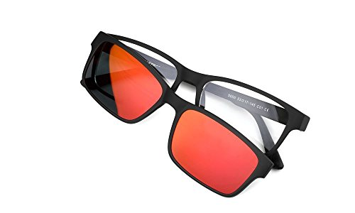 Price comparison product image My Blue Protect Glasses of Protection Anti Blue Light The Classic + 1 magnetized Solar Clip red,  Glasses of Rest,  Filters The UV,  Sunglasses Model Eclipse.