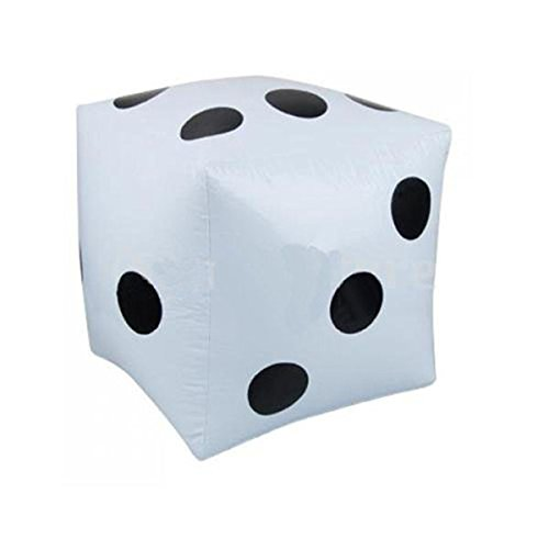BinaryABC Inflatable Dice Giant Dice Balloon Pool Party Toys (White)