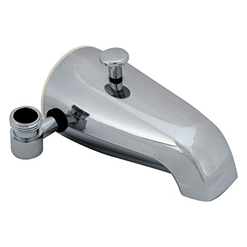 (EZ-FLO 15087 Bath Tub Diverter Spout with Side Outlet, Chrome Finish)