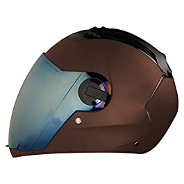 Steelbird SBA-2 7Wings Full Face Helmet in Matt Finish (Large 600 MM, Axis Grey Helmet Fitted with Clear Visor and Extra…