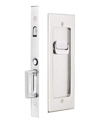 Emtek Modern Rectangular Privacy Pocket Door Mortise Lock (Satin Nickel)