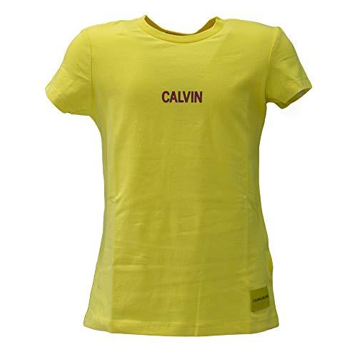 Giallo Logo Small Ig0ig00141 Bambina shirt Calvin Klein T 4q8nwUnvA