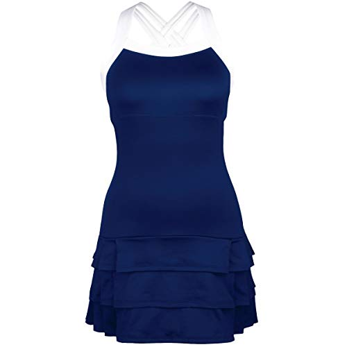 DUC Women's Team Tennis Apparel, Grace Modern Dress, Navy (X-Small)