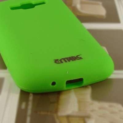 EMPIRE AT&T Samsung Focus 2 I667 Silicone Skin Case Tasche Hülle Cover (Neon Grün) + Auto Windschutzscheibe Bergs